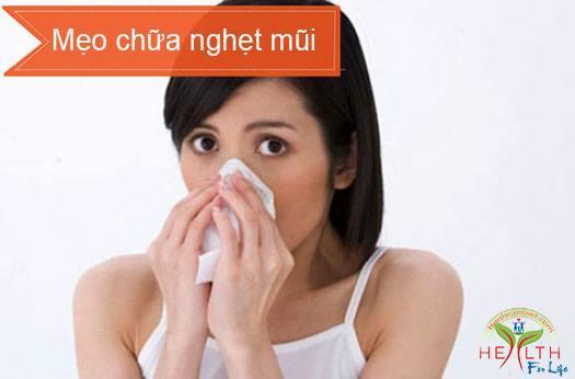 Mẹo chữa nghẹt mũi đơn giản mà hiệu quả